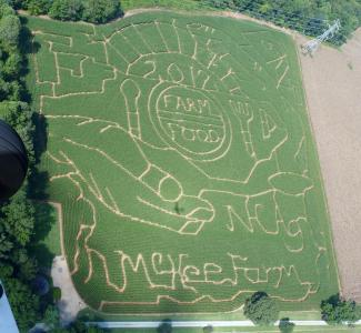 McKee's CornField Maze is one of the largest Mazes in North Carolina – featuring a 12 acre maze and a 2 acre maze for 14 acres of family fun.