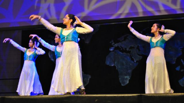 Indian dancers perform on the Main Stage at the 27th Annual International Festival of Raleigh.