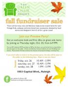 The Green Chair Project Fall Fundraiser Sale