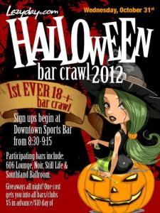 Lazyday Halloween Bar Crawl 2012