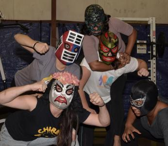 WRAL Out & About got a sneak peek during a Luchadoras practice session. More wrestling action to come on Saturday, Nov. 10! (Photo by David Friend.)