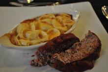 Meatloaf and macaroni and cheese at The District at 410.