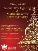 Annual Tree Lighting & Midtown Events Christmas Party