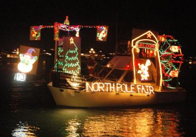 """North Pole Fair"" won Best in Show Saturday at the 29th Annual North Carolina Holiday Flotilla (Photo courtesy: Beth Watson Hedgepeth)"