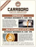 Carrboro Coffee Workshops