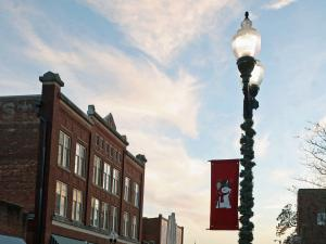Downtown Smithfield is decorated for the holidays