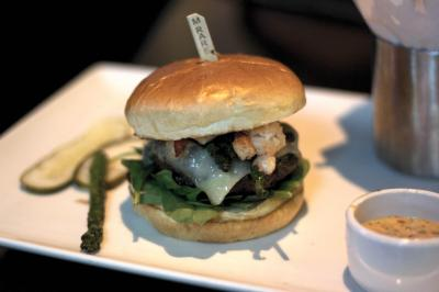 The Surf & Turf Burger at Yard House