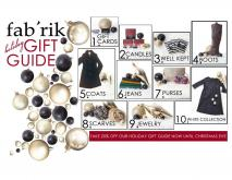 Fab'rik Holiday Gift Guide. Take 20 percent off now until Christmas Eve!