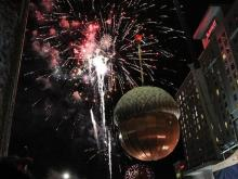 Raleigh rings in 2014 with acorn drop