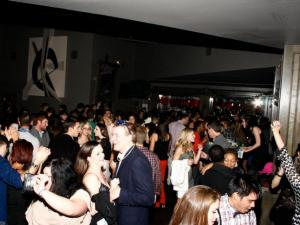 Revelers celebrate at The Architect Bar and Social House on Dec. 31, 2012.