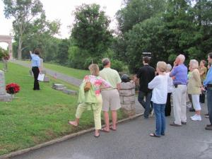 Oakwood Cemetery Flashlight Tours (Photo by Laura Schramm.)