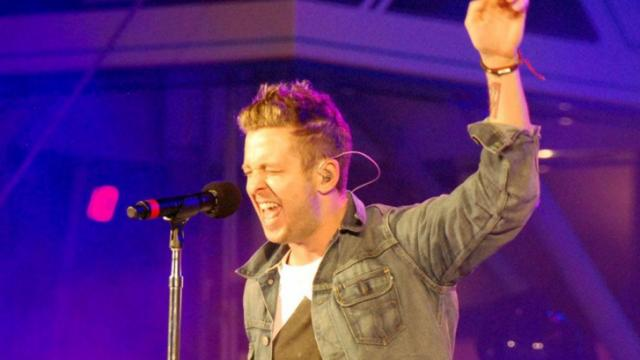 One Republic performed at the unveiling of the new version of the Test Track ride at Epcot. (Photo by James Benedict)
