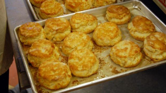 The biscuits are Rise are stuffed with chicken, veggies and even bologna.