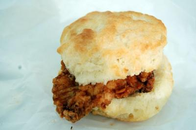 The chicken biscuit from Rise in Durham.