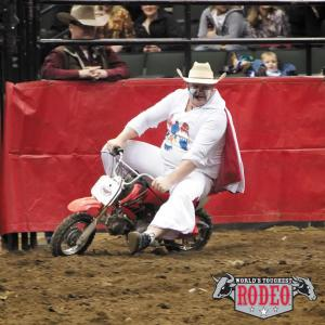 Rodeo Clown Justin Rumford (Image from The World's Toughest Rodeo)