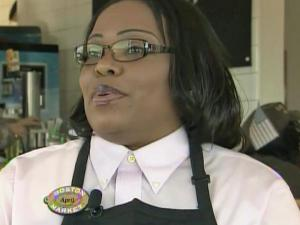 "April Hubbard trained a Boston Market corporate executive for an episode of ""Undercover Boss."""