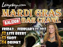 Lazyday Mardi Gras Bar Crawl