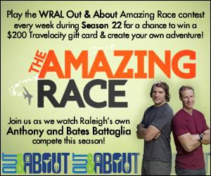 WRAL Out & About Amazing Race Contest 300x250