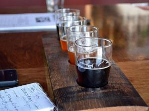 A look at the beers at Trophy Brewing Company in Raleigh.