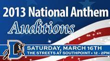 Want to sing the National Anthem at a Durham Bulls game this season? Tryouts are Saturday at the Streets at Southpoint Mall.