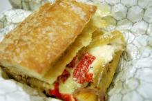 Porchetta's Mediterranean sandwich