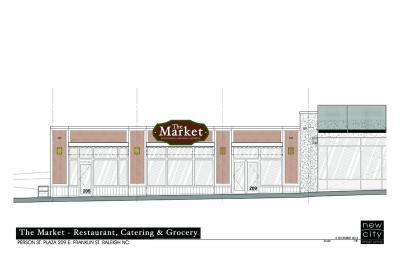 An artist rendering of The Market - Restaurant, Grocery and Catering (Image from The Market)