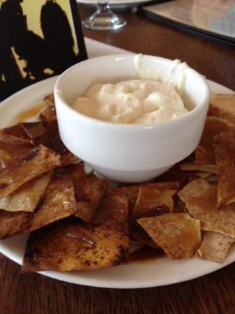 The cinnamon crepe chips at Simply Crepes.