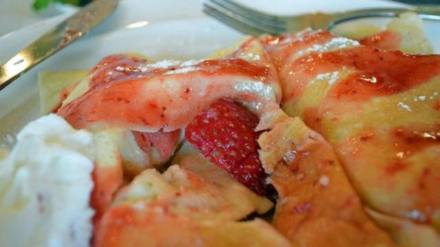 The Simply Strawberry Crepe at Simply Crepes.