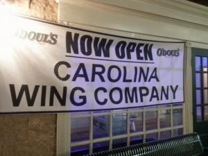 Carolina Wing Company has opened in the former Buffalo's space.