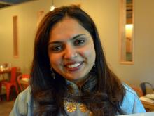 Maneet Chauhan signed copies of her cookbook and met with fans during a special dinner Sunday night at Bida Manda.