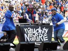 Naughty By Nature at MetLife Stadium, East Rutherford, N.J.  (February 7, 2012) (AP Photo)