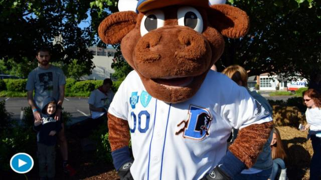 Wool E. Bull was on hand to help cheer on the Doughman teams.