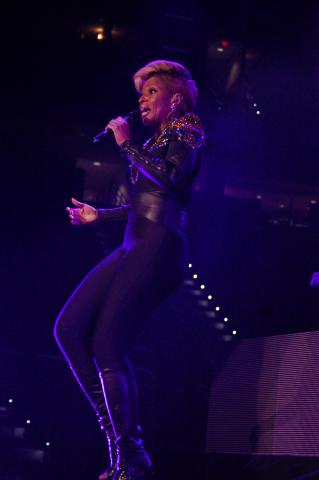 Mary J. Blige performs at PNC Arena in Raleigh on June 7, 2013.