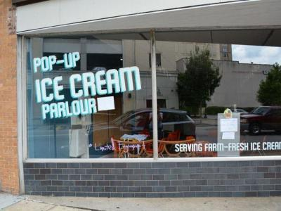 pop up ice cream parlour