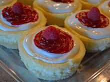 Gluten-free raspberry cheesecake at Sugar Buzz Bakery & Cafe.