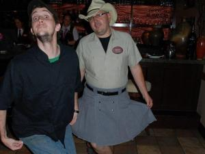 Market chef Chad McIntyre rocked a kilt he sewed himself. (Image from Competition Dining)
