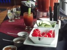 The Oxford in Raleigh offers a build-your-own Bloody Mary bar.