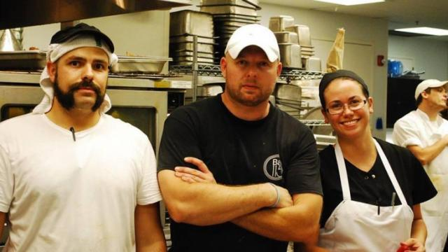 Team Midtown Grille: Chef Scott James (center) Chris Santucci and Jeanne Sutherin (Image from Competition Dining)