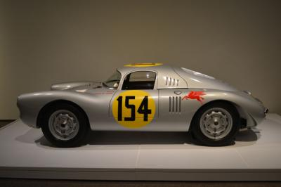 The Porsche Type 550 Prototype on display in the Porsche by Design: Seducing Speed exhibit at the North Carolina Museum of Art.