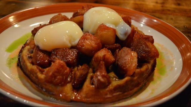 Chicharron and Waffles at Jose and Sons in Raleigh.