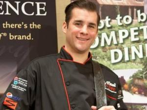 Final Fire 2013 Champion Red Stag Grill chef Adam Hayes (Image from Competition Dining)