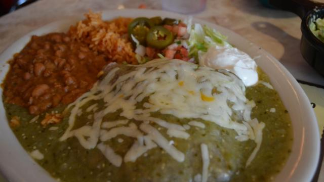 The Chuy's Special Enchilada at Chuy's at North Hills in Raleigh.