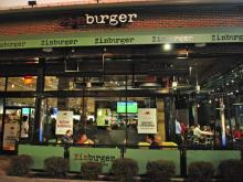 The outside patio at Zinburger.