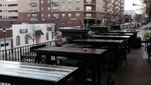Hibernian Pub's new rooftop bar at their Glenwood Avenue location. (Image from Facebook)