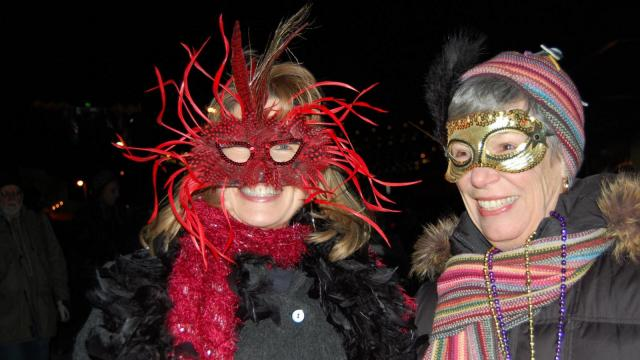 The Durham Mardi Gras parade was held March 4, 2014.