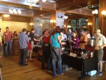The NC Craft Brewers Guild held a media event at Natty Greene's Pub in Raleigh in March 2014.