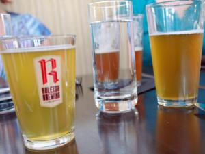 Raleigh Brewing served up four beers: A Czech pilsner, Belgian golden ale, a rye IPA and a wheat ale.