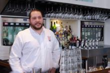 Raleigh Brewing's Billy Rutherford makes regular stop to service his customers, including Oro.