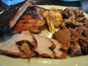 A sampling of meats at City Barbeque.