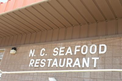The N.C. Seafood Restaurant always draws a crowd at the farmers' market for fresh, fried food.
